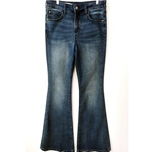 Pilcro Anthropology High-Rise Flare Jeans 29/8